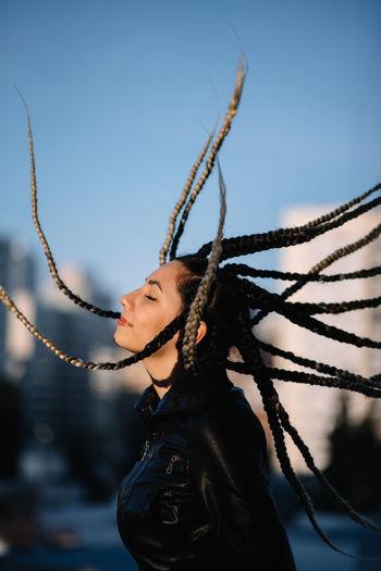 Woman hair wave