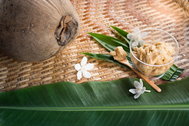 palm sugar and thai sweets ingredients. Coconut Thai Desserts (Khanom Wan Thai) Thai Sweets Banana Leaf Coconut Sugar Palm Sugar Sweets Thai Dessert Style
