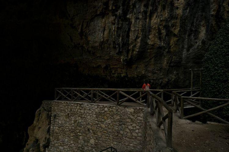 Cave Nature Water Waterfall Cueva Del Agua Darkness