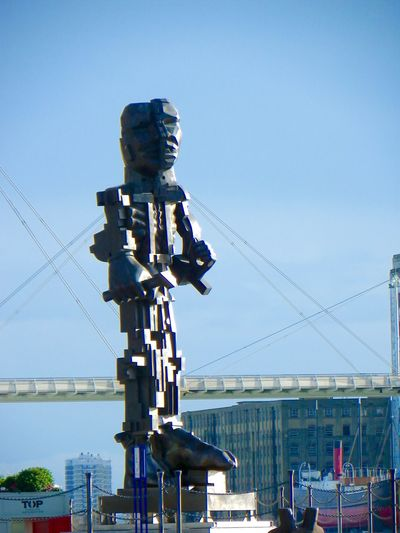 Located near Excel Centre, London City Clear Sky Day Excel Center London Modern Art No People Outdoors Sky Statue