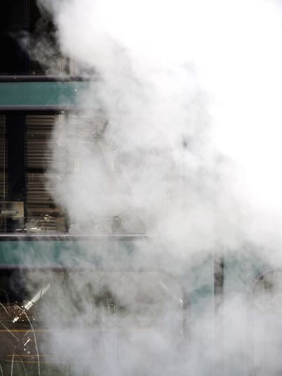 Steam Vapor Smoke Urban Gaz Clouds