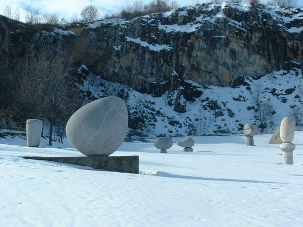 Sculpture Park Sculpture Winter Snow
