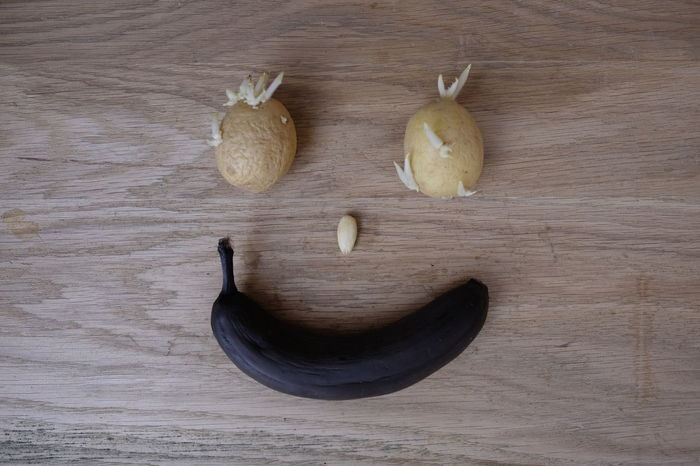 Banana Decay Sprouts Failure  Food Germinated Idea Inedible Old Overripe Potatoes Putrid Rotten Smile