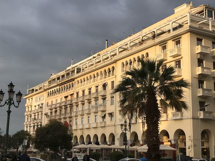 I love this City City Day Palm Tree Aristotelous Square Thessaloniki Colourful Greece Architecture Cloud - Sky