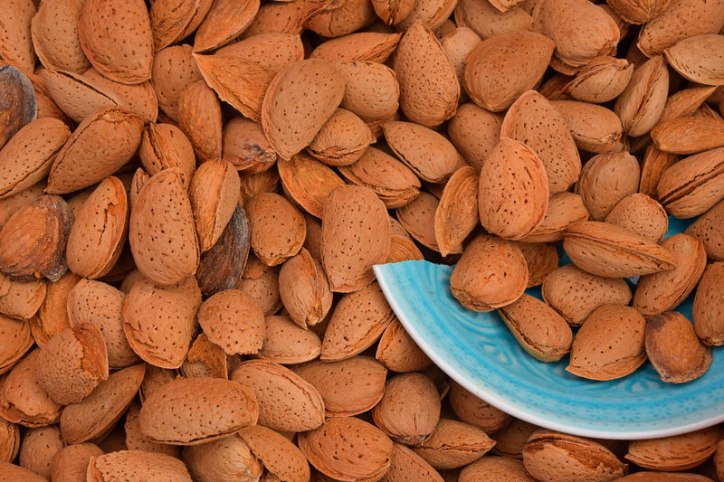 Full frame shot of almonds