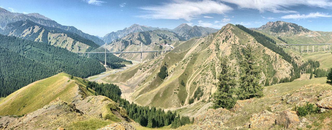 Panoramic shot of rocky landscape