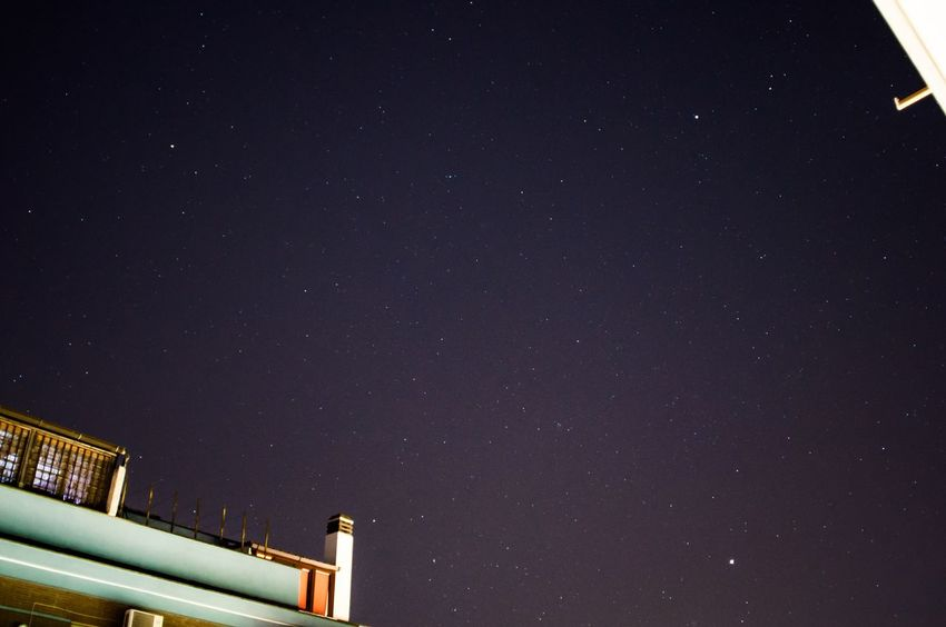 The power of the sky of Rome, Nikon d90 f2.8 iso 800 10'' Best Of EyeEm Light Pollution Bakground Light Orion Stars Rome Sky Rome Italy Night Low Angle View No People Built Structure Architecture Outdoors Nature Illuminated Building Exterior Sky Star - Space Astronomy Beauty In Nature