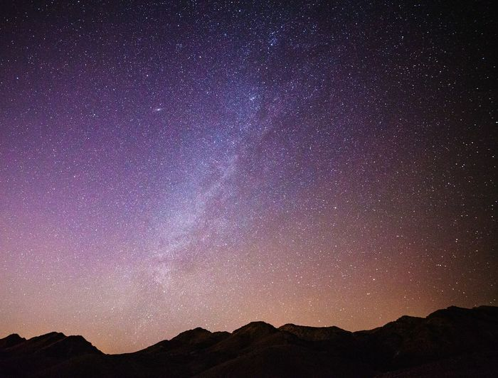 Galaxy over the AZ desert Star - Space Astronomy Galaxy Milky Way Constellation Mountain Space Nature Star Field Night Purple Scenics No People Outdoors Star Trail Silhouette Sky Beauty In Nature