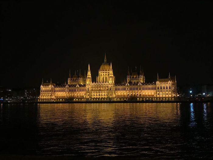 Parlement building Budapest Budapest At Night Hungary At Night Hungary Budapest Parlement Building Architecture Night Building Exterior Built Structure Travel Destinations Illuminated River Waterfront Outdoors No People Politics And Government Clear Sky Water