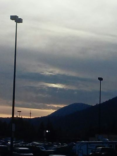 Walmart Parking Lot Selkirk Mountains Sunset Clouds And Sky Cloudporn
