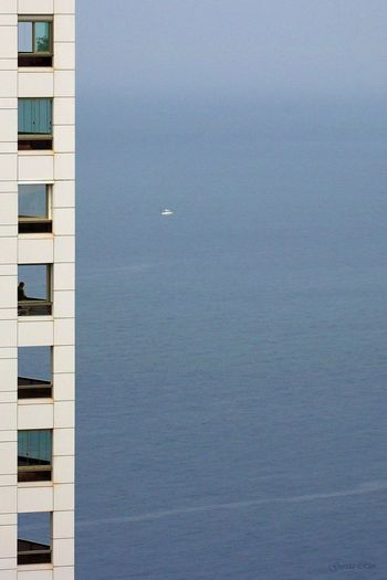 Vistas al mar. Ventanas Windows Edificio Building Azul Blue Benidorm Alicante, Spain SPAIN Benidorm Spain Canon_official Canonphotography Canon Manu García Mar Sea Nature Tranquility No People Water Outdoors Tranquil Scene Clear Sky
