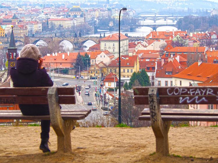 Bridges City Cityscape Lookingat Prague River View TOWNSCAPE Travel Destinations View