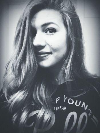 Polishgirl Girl Blonde Blonde Hair Dark Blonde Just Smiling Smile ✌ Black & White