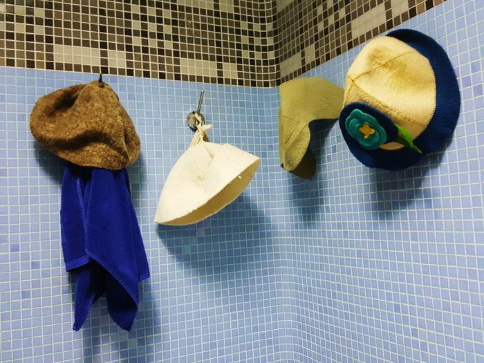 Day No People Outdoors Sauna Bath Hats