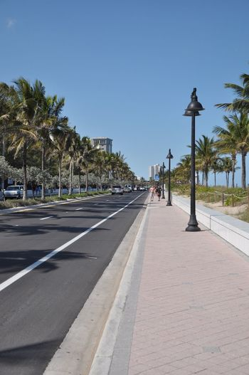 Fort Lauderdale Beach Florida Beach Beach Life Clear Sky Palm Tree Outdoors Blue Sky Day By Day EyeEmNewHere The Great Outdoors - 2017 EyeEm Awards Sunny Day Summer Summertime Beautiful Day Main Street Excercise Time Run Road