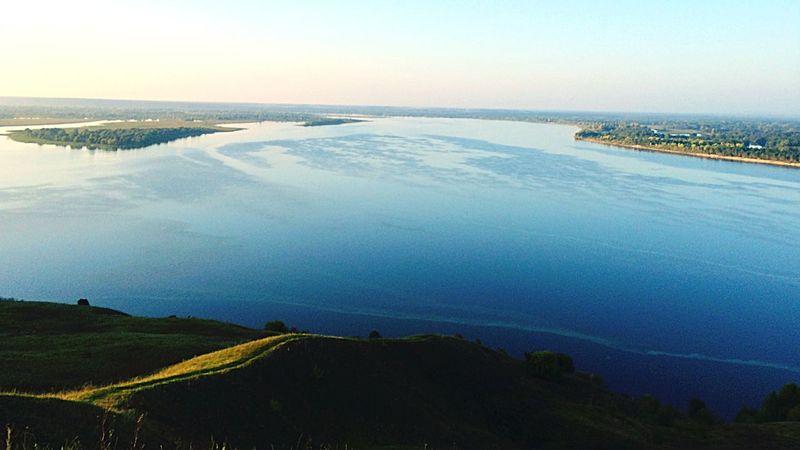 Volga River Priroda Krasota Leto