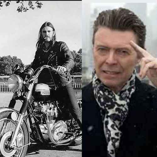 Rock'n'Roll Gods Sad Day for Music F*** Cancer! Speechless RIP Lemmy RIP :( Rip Bowie Ace Of Spades Starman Legend Legendary Tribute No Fears LemmyKilmister David Bowie