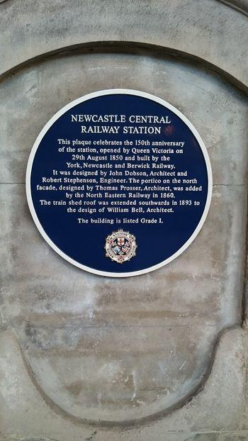 Newcastle Upon Tyne Central Station Public Transportation Train