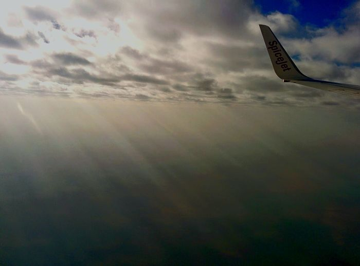 From An Airplane Window Punetodelhi Spicejet Clouds And Sky Clouds Skyporn Divine Light