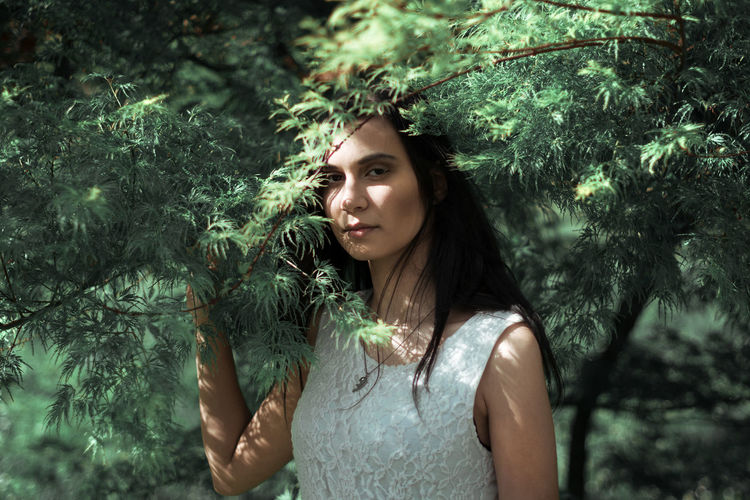 Beautiful Woman Beauty In Nature Day Fairytale  Forest Growth Leisure Activity Lifestyles Long Hair Nature One Person Outdoors Plant Real People Standing Tree Young Adult Young Women Place Of Heart The Portraitist - 2017 EyeEm Awards