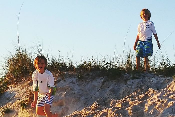 Fun My Kids Beach Lifestyle Orange Beach Alabama Brotherly Love Samsung Galaxy S5