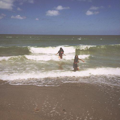 Capturing Freedom Beach Running Children Water Fun Sisters
