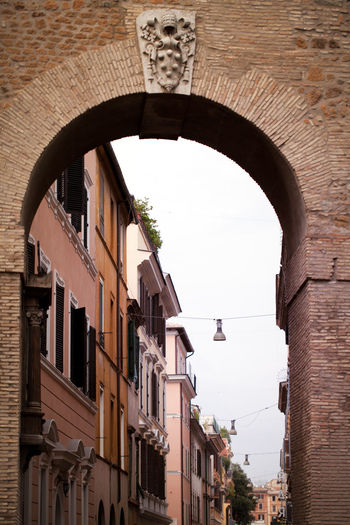 Antique Historical Building Italia Rome Typical Vatican Arch Architecture Art Borgo Pio Building Exterior Built Structure City Clear Sky Day Italy Low Angle View No People Old Outdoors Streetphotography Symbol Tourism