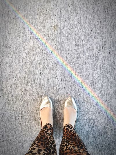 Rainbow Godscreation GodsPromises Flats Animalprint Happiness Walking Around Enjoying Life