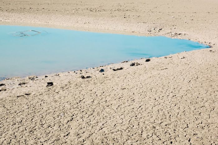 Lake Dry Climate Water Beach Land No People Tranquility Nature Beauty In Nature Scenics - Nature Sand Day Tranquil Scene Sea Outdoors High Angle View Environment Non-urban Scene Arid Climate Sunlight
