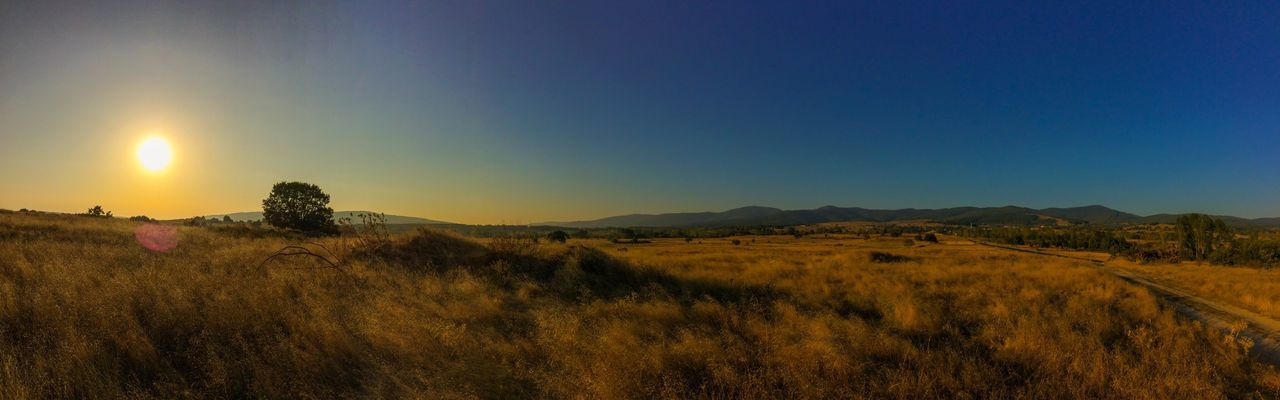 Like a desert 🌵 Landscape Scenics Outdoors No People Blue Sun Nature Clear Sky Grass Sky Mountain (null)Tranquil Scene Beauty In Nature Tranquility Day View Taking Photos Personal Perspective (null)Check This Out EyeEm Selects Panoramic EyeEmNewHere