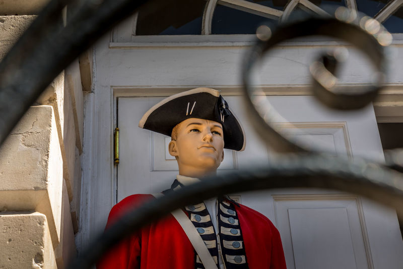 Model of an english redcoat soldier