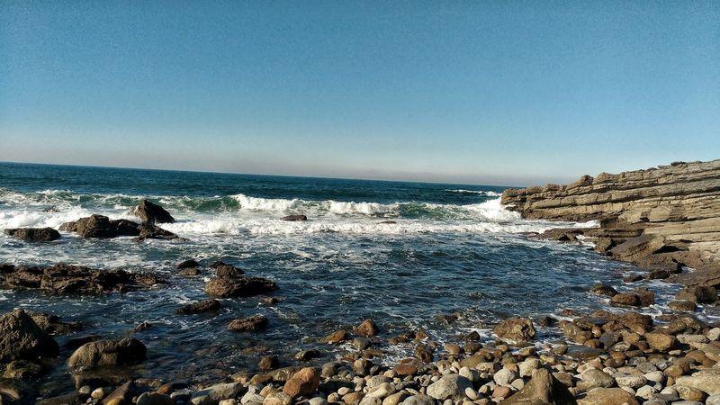Ocean Portugal Sea Sky Edit Foz Do Arelho Horizon Over Water Water Smartphone Photography Motorola Moto G3 Nature Beauty In Nature No People Beach Day Outdoors Sunlight