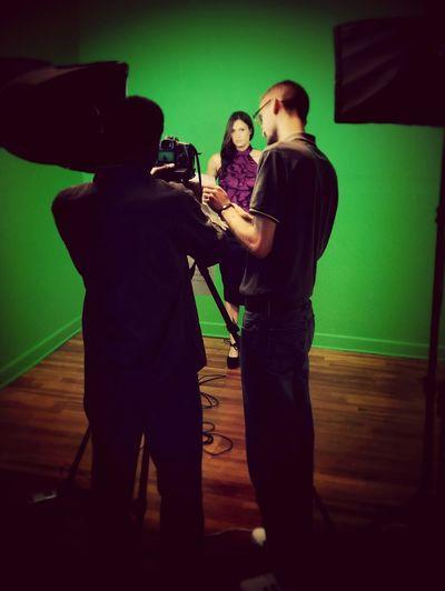 In studio - MMA Radio Studio Photography