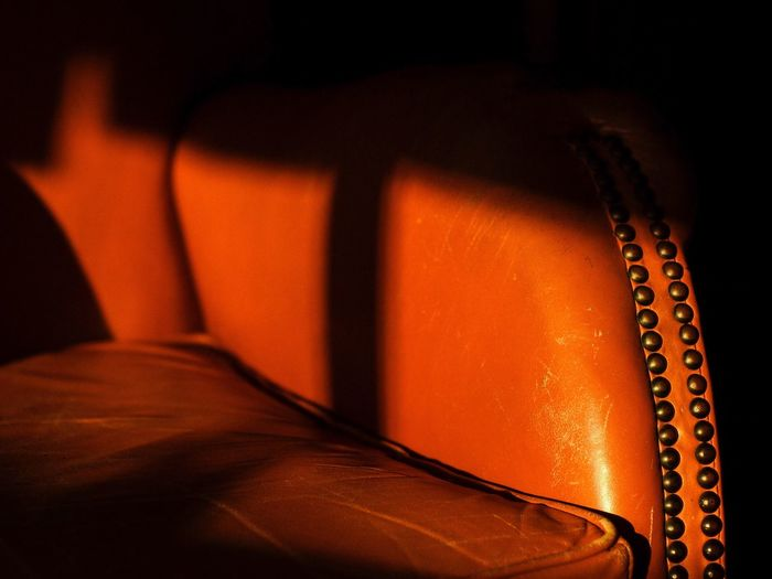 43 Golden Moments Chair Club Chair Gold Sunset Sunset_collection Sunset Light Golden Hour Warm Colors Warm Tone Leather Leather Craft EyeEm Best Shots EyeEm EyeEm Gallery