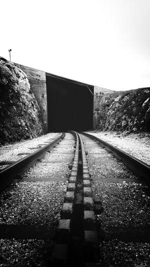 Black & White Train Streetphotography Street Art
