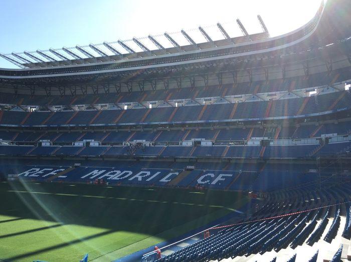 客席も、ピッチにも入れました Santiagobernabeu Realmadrid サンチャゴベルナベウ レアルマドリード スタジアム