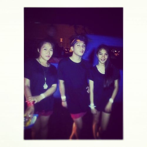 on saturday we whore black XD last.night with my gals InsomiaParty 4thofjuly