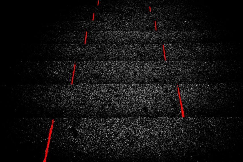Stairway Red No People Close-up Road Black Color Full Frame Black Background Asphalt