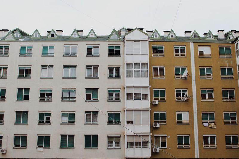 Residential building against sky