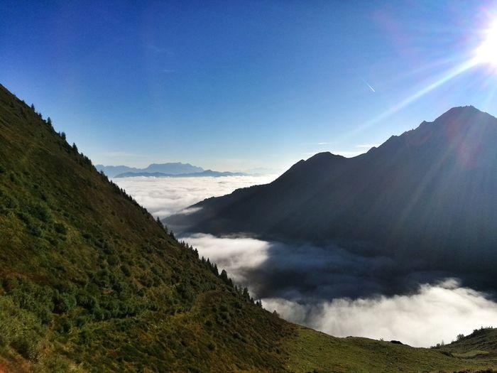 Outdoors Eyemphotography Landschaft Aussicht Wandern 🌄 Österreich Mountain Tree Clear Sky Sunlight Pinaceae Sky Landscape