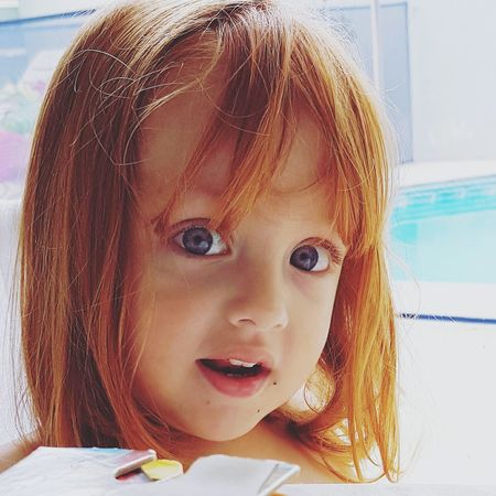 Close-up Child Childhood One Girl Only Pretty Eyes Blue Eyes Princess👸 RedHair 💞 Redhairgirl Red Hair RedHAIR ❤ Blue Eyed Baby Baby Girl Baby Blue Eyes 💙 Kids Princesalinda Babies Only