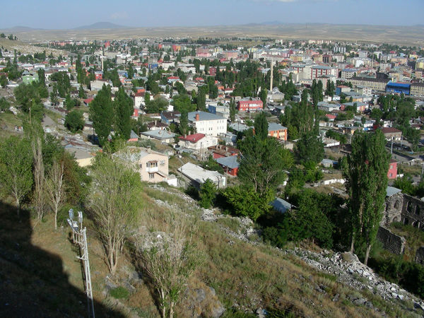 From Kars citadel Aerial View Architecture Building Exterior Built Structure City City Cityscape Cityscape Crowded Day High Angle View Kars Nature Outdoors Poplars Residential Building Sky Travel Destinations Travel Photography Tree Turkey