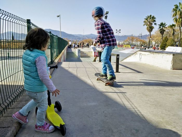 I am next Skate Photography: Same Tricks, New Perspectives Full Length Child Childhood Girls Real People Lifestyles Leisure Activity Sports Equipment Sport Skateboard Women Men Day Females Casual Clothing Nature Boys People Enjoyment Sister Turn