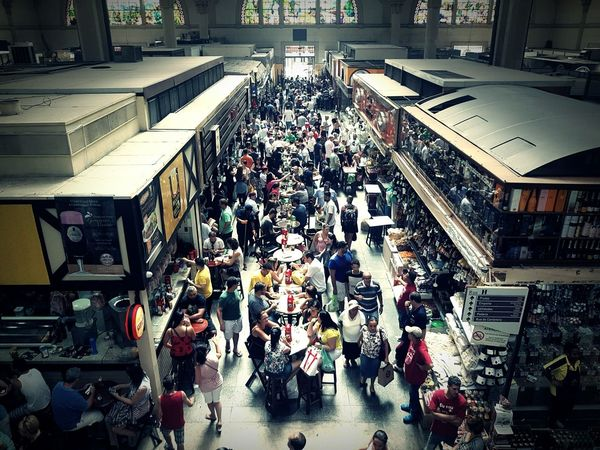Crowd Large Group Of People High Angle View People Architecture Built Structure Indoors  Day Brazil EyeEmNewHere TCPM Getty Images Premium Collection The Street Photographer - 2017 EyeEm Awards Mercado Mercado Municipal De São Paulo Sao Paulo - Brazil Stories From The City
