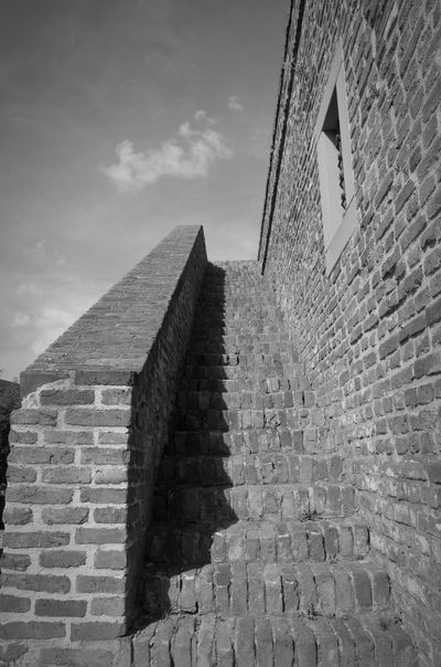 Stairs Built Structure History Old Ruin Sky No People Outdoors Architecture Stairways Staircase Cloud - Sky City Day Fortress Fortress Wall Fortress Of Stone Fortress In Europe Belgrade Belgrade Fortress Kalemegdan Photo Photography Blackandwhite Blackandwhitephoto Blackandwhitephotography