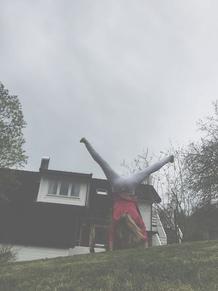 Cartwheel Gymnastics Nature House Garden Trees Trees And Sky Summertime Norway Summer Love