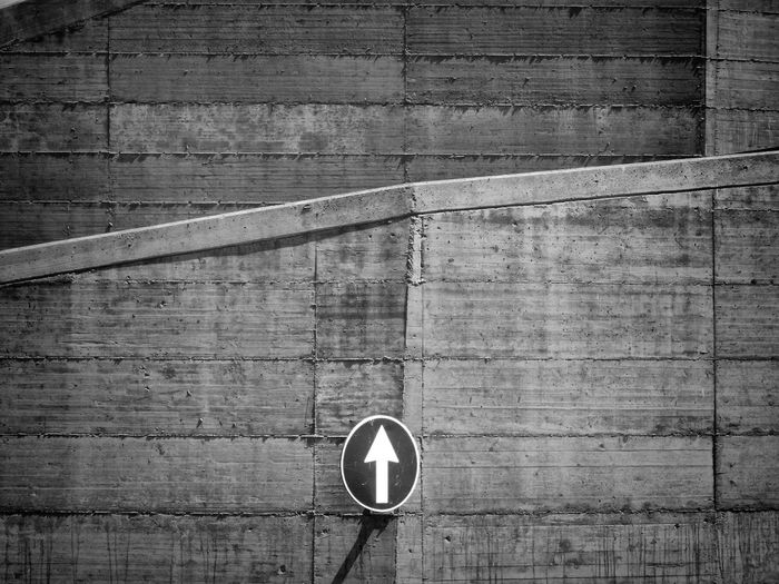 Arrow Sign On Wall