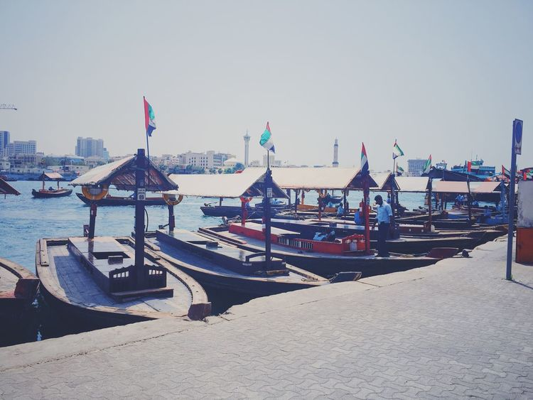City Day Flag Gondola - Traditional Boat Harbor Mode Of Transport Moored Nature Nautical Vessel No People Outdoors Sea Sky Transportation Travel Destinations Water