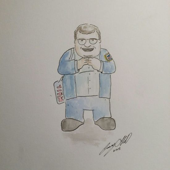 Newman Illustration Caseyoneillart Torontoartist Toronto Sketchbook Sketch Doodle Seinfeld Newman