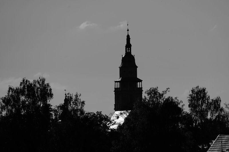 Bad Langensalza badlangensalza Thüringenentdecken No People Kirche Thuringen Thüringen Germany Clock Tower Bw St.Marienkirche